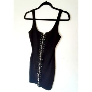 Bodycon Dress with Chain Detail